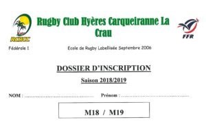 dossier inscription RCHCC